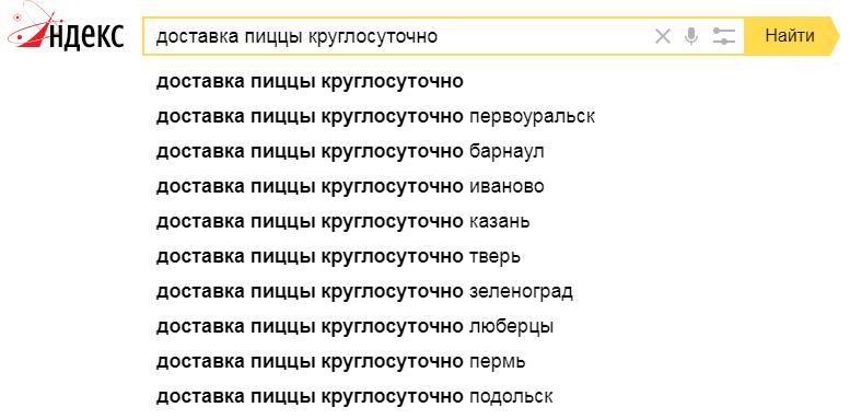 Запросы пользователей - пример