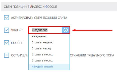 периодичность снятия позиций в поисковых системах